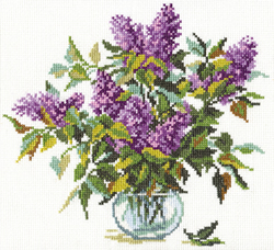 Borduurpakket Bouquet of Lilacs - Alisa