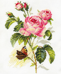 Borduurpakket Rose and Butterfly - Alisa
