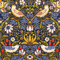 Borduurpakket William Morris - Strawberry Thief - Bothy Threads