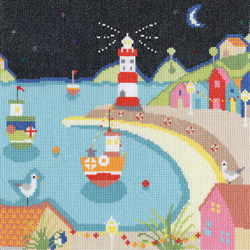 Borduurpakket Beside the seaside - Harbour Lights - Bothy Threads