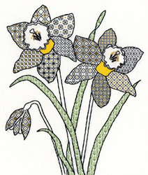 Boduurpakket Blackwork - Daffodil - Bothy Threads