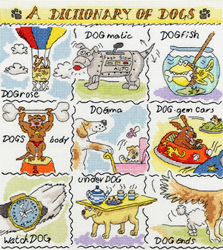 Borduurpakket Dictionary of... - Dogs - Bothy Threads