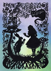 Borduurpakket Fairy Tales - Alice in Wonderland - Bothy Threads