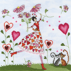 Borduurpakket Miss Heart - Bothy Threads
