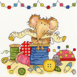 Borduurpakket Mouse - Sewing Mouse - Bothy Threads