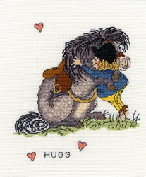 Borduurpakket Thelwell - Hugs - Bothy Threads