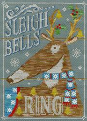 Borduurpakket Vintage Christmas - Sleigh Bells Ring - Bothy Threads