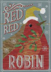 Borduurpakket Vintage Christmas - Red Red Robin - Bothy Threads