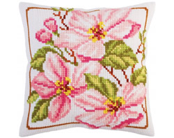 Kussenborduurpakket Pink magnolia - Collection d'Art