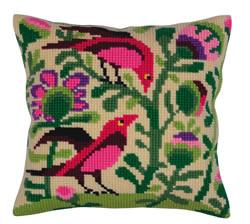 Kussen borduurpakket Birds of Paradise - Collection d'Art
