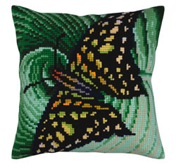 Kussen borduurpakket Butterfly - Collection d'Art