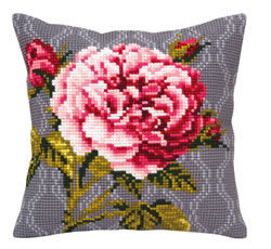 Kussen borduurpakket Tender Rose - Collection d'Art