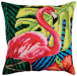 Kussenborduurpakket Pink Flamingo - Collection d'Art