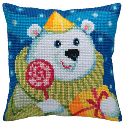 Kussen borduurpakket Candy Teddy - Collection d'Art