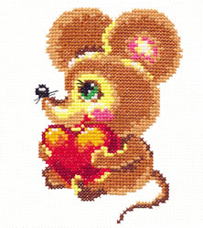 Borduurpakket Little mouse - Chudo Igla