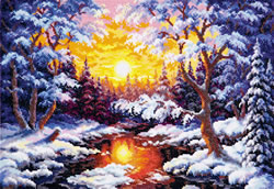 Borduurpakket Winter sunset - Chudo Igla (Magic Needle)