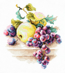 Borduurpakket Grapes and apples - Chudo Igla