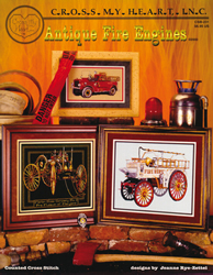 Borduurpatroon Antique Fire Engines - Cross My Heart