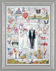 Borduurpakket Wedding ABC - Design Works