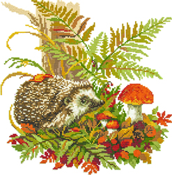 Diamond Painting Hedgehog in the Forest - Freyja Crystal