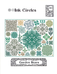 Borduurpatroon Garden Stars - Ink Circles
