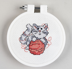 Borduurpakket Learn to Stitch Kitty - Janlynn
