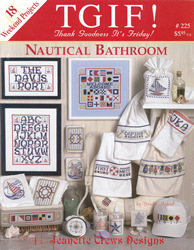Borduurpatroon Nautical Bathroom - Jeanette Crews Designs