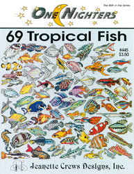 Borduurpatroon 69 Tropical Fish - Jeanette Crews Designs