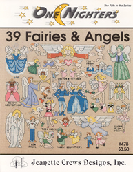 Borduurpatroon 39 Fairies & Angels - Jeanette Crews Designs