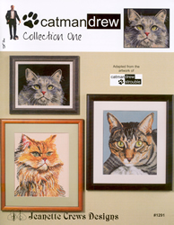 Borduurpatroon Catman Drew Collection One - Jeanette Crews Designs
