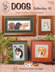 Borduurpatroon Dogs Collection #10 - Jeanette Crews Designs