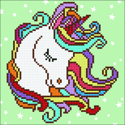 Diamond Art Fun Unicorn - Leisure Arts