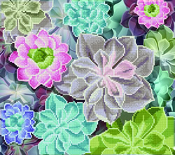 Diamond Art Succulents - Leisure Arts