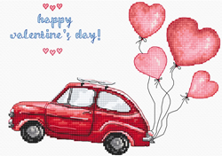 Borduurpakket Happy Valentine's Day - Leti Stitch