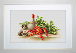 Borduurpakket Still Life with Crayfish - Luca-S