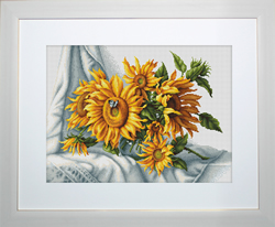 Borduurpakket Sunflowers - Luca-S