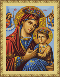 Borduurpakket Icon of Virgin Mary - Luca-S