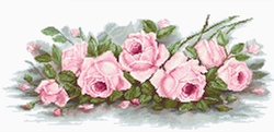 Borduurpakket Romantic Roses  - Luca-S