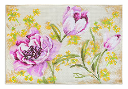Borduurpakket Decorative Mat Flowers - Luca-S