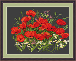 Petit Point Borduurpakket Poppies - Luca-S