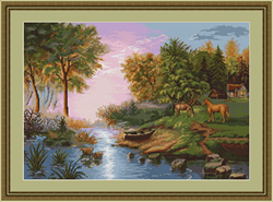 Petit Point Borduurpakket Summer Landscape - Luca-S
