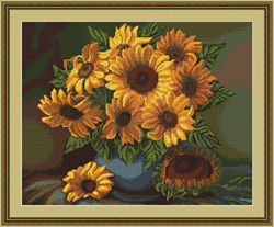 Petit Point Borduurpakket Vase with Sunflowers - Luca-S