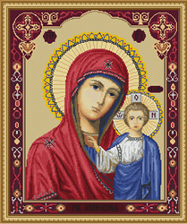 Petit Point Borduurpakket Icon of Kazan Mother of God - Luca-S