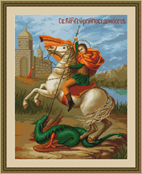 Petit Point Borduurpakket Saint George - Luca-S