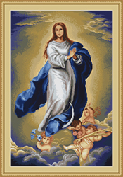 Petit Point Borduurpakket Immaculate Conception by Murillo B.E. - Luca-S