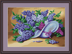 Petit Point Borduurpakket Lilac - Luca-S