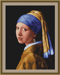 Petit Point Borduurpakket Girl with a Pearl - Luca-S