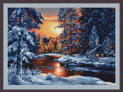 Petit Point Borduurpakket Winter Landscape - Luca-S