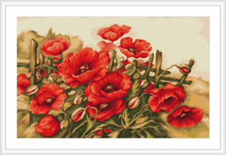 Petit Point Borduurpakket Poppies of field - Luca-S