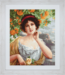 Petit Point Borduurpakket Beauty Under the Orange Tree - Luca-S